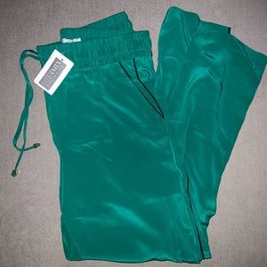 Intermix Exclusive Silk Green Soft Pant